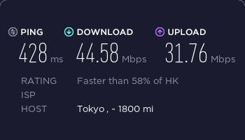 ExpressVPN香港服务器速度测试