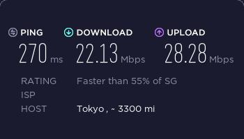 ExpressVPN新加坡服务器速度测试