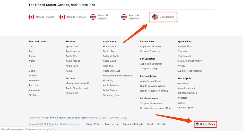 apple官网切换语言