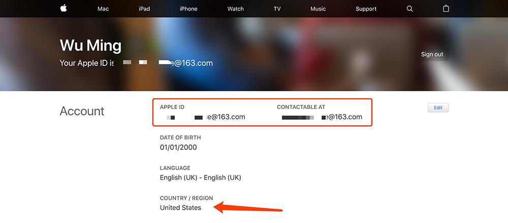 apple美区账户注册成功