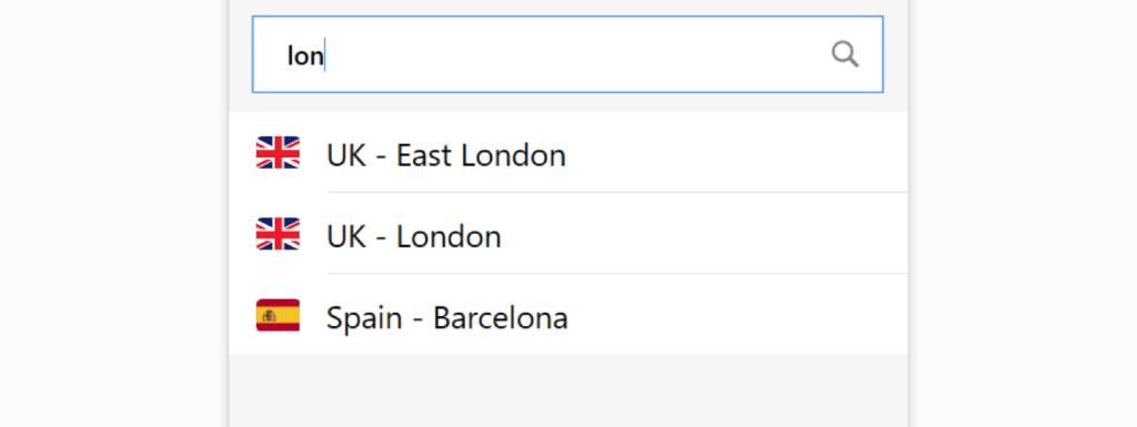 expressVPN服务器搜索