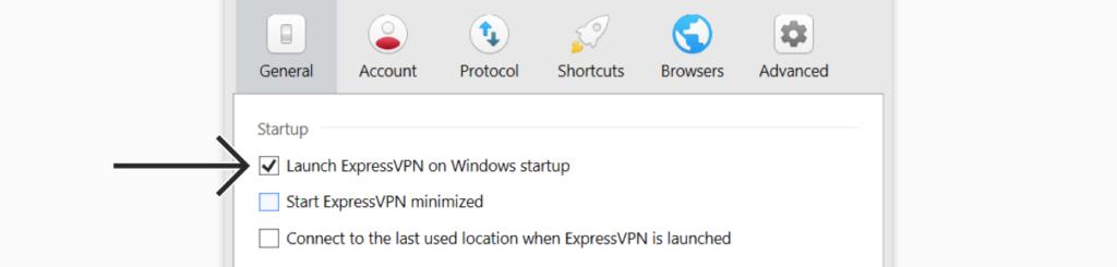 expressvpn开机启动设置