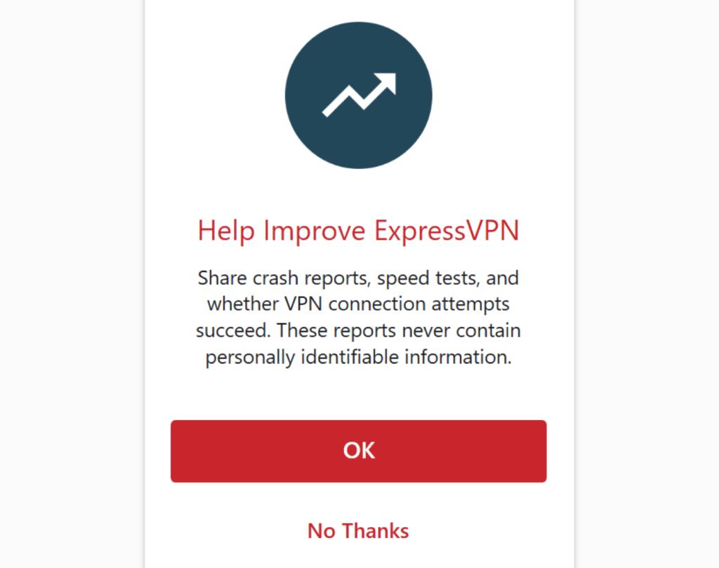 expressvpn设置是否反馈