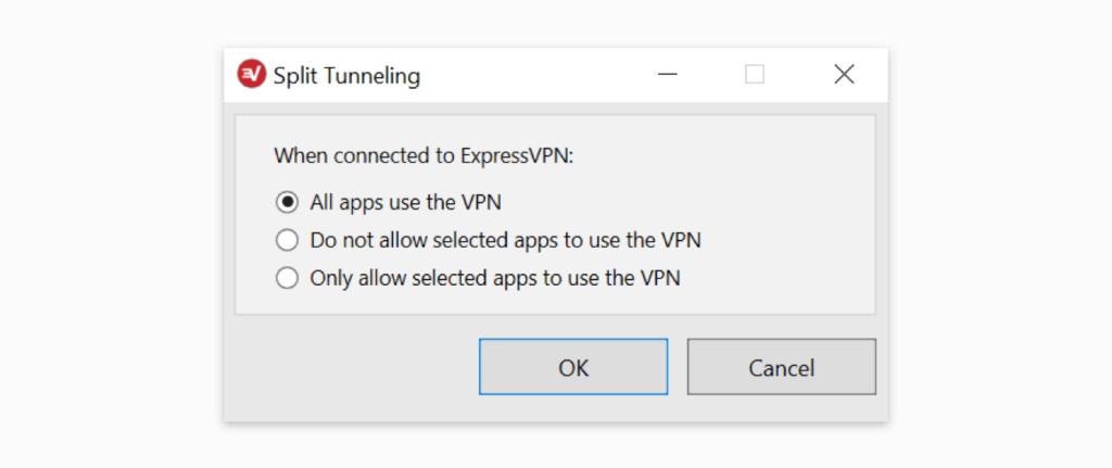 expressvpn隧道分离功能自定义