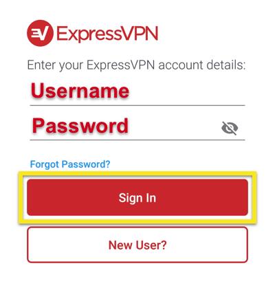 expressvpn-android-应用账户登录