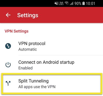 expressvpn-android-隧道分离