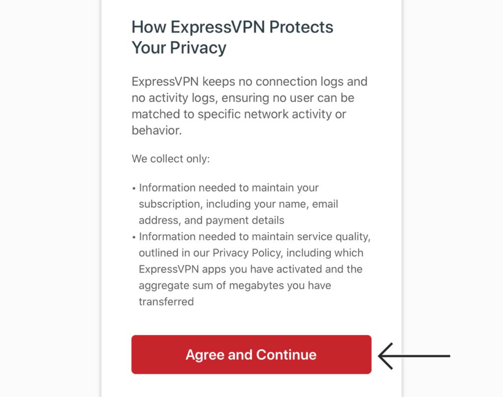 expressvpn-ios-同意隐私条款