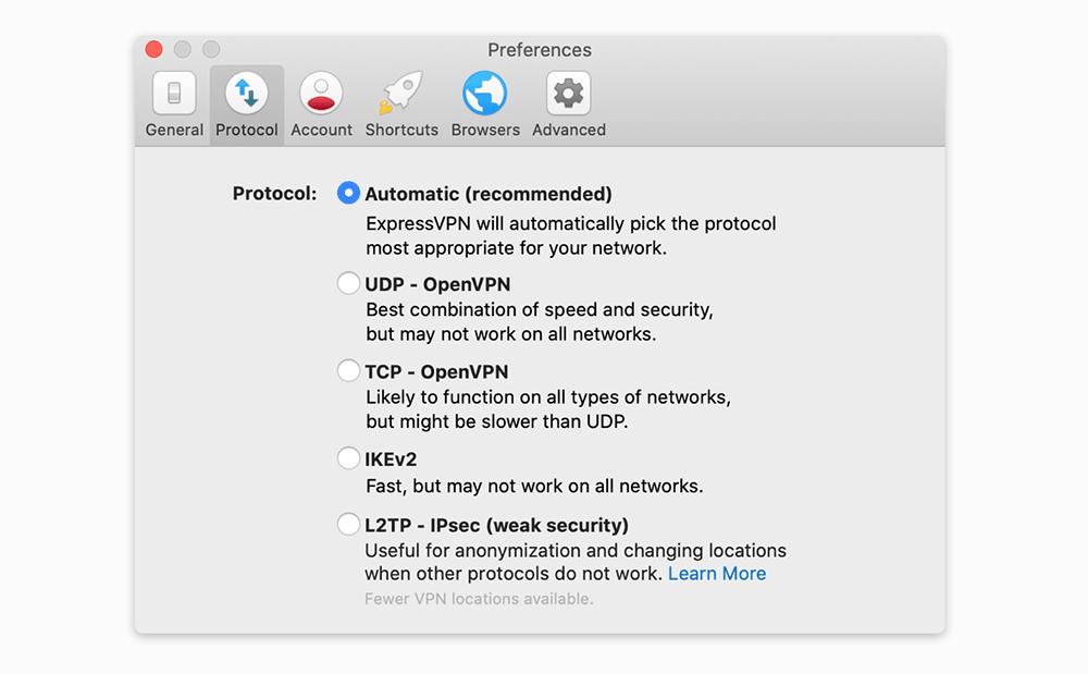 expressvpn mac切换VPN协议
