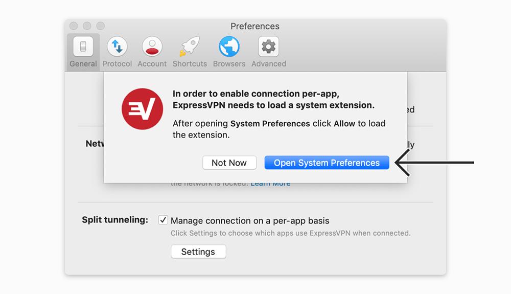 expressvpn mac系统启用隧道分离