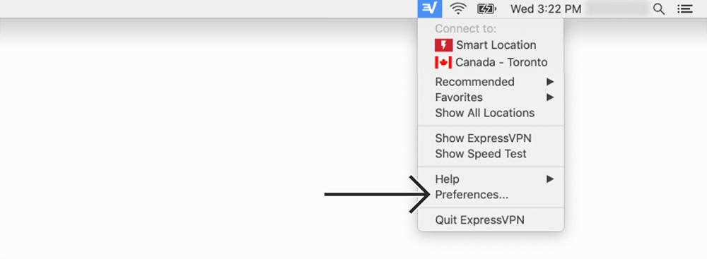 expressvpn mac菜单栏快捷方式