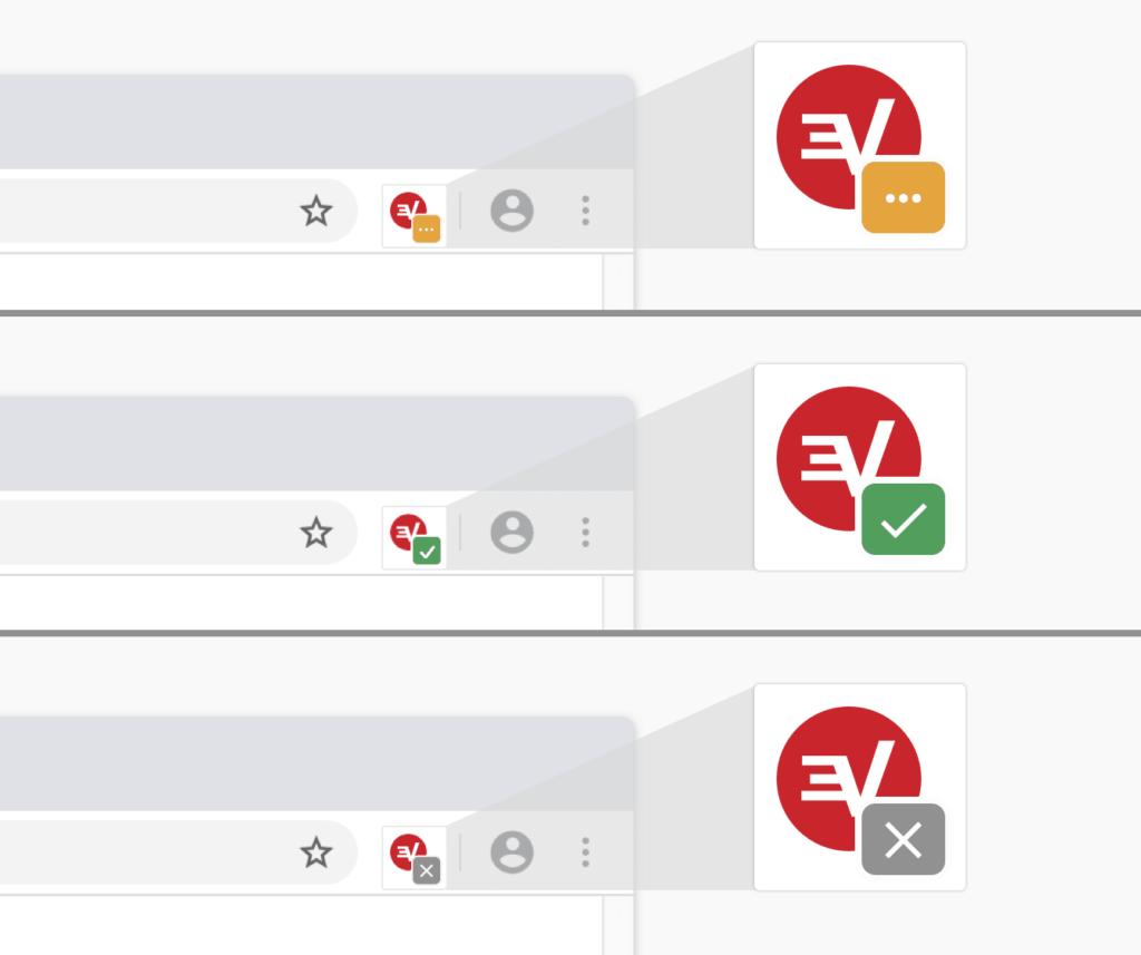 expressvpn_浏览器插件_服务器连接状态