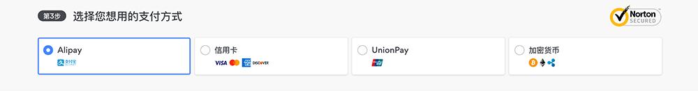nordvpn选择支付方式