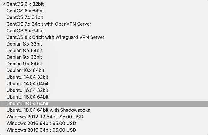 onevps支持的系统