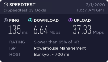 vyprvpn speed test kr