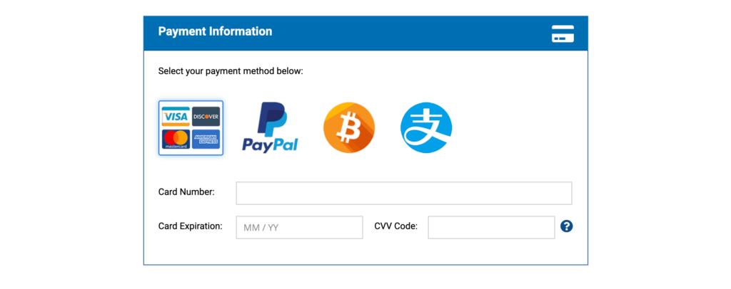 hostwinds信用卡付款信息