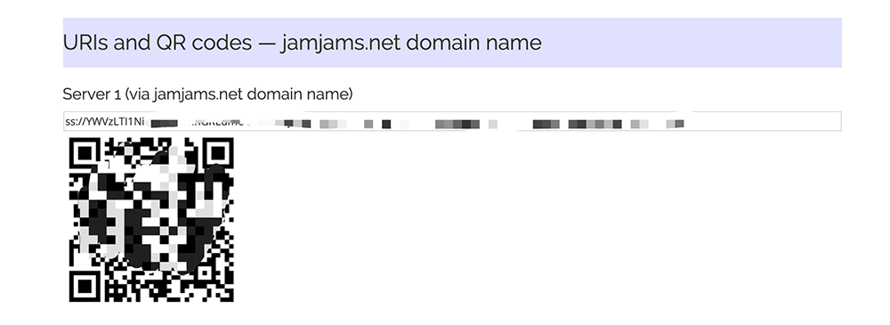 justmysocks服务器二维码和ss链接