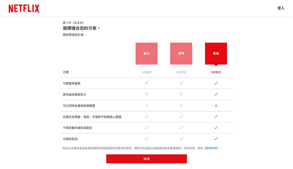 netflix选择合适的套餐方案