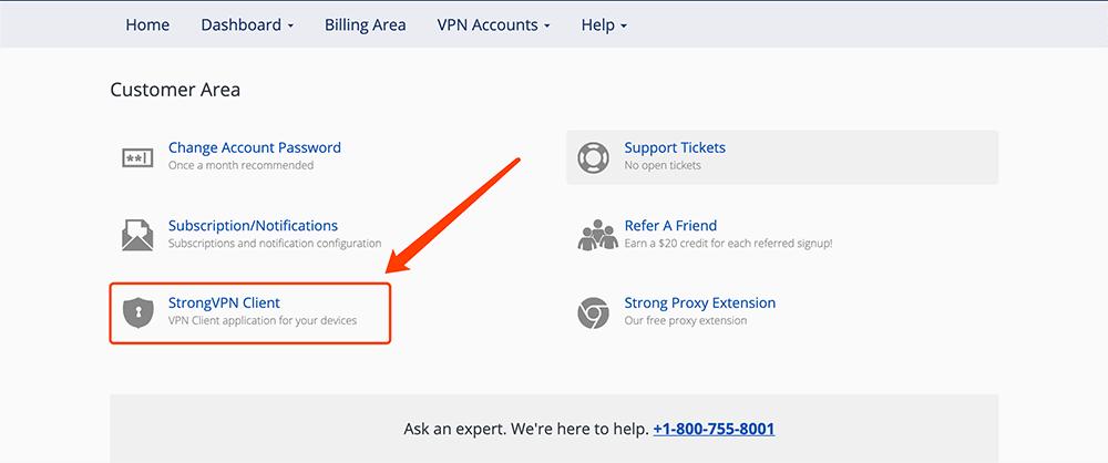strongvpn软件客户端