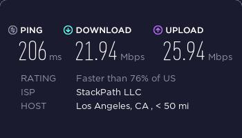 StrongVPN美国服务器速度测试