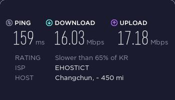 surfshark韩国服务器速度测试