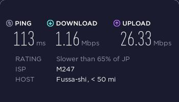 vpncity日本服务器ss速度测试